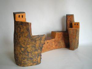 obra de la exposicion construccions en bancaja de segorbe