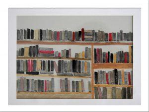 llibreries amb llibres pintades