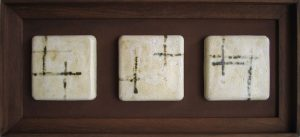 tres elmentos de ceramica