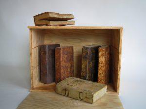 caja con libros