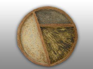 peça de ceramica circular