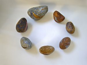 elementos de ceramica en circulo