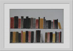 libros pintados con gouache