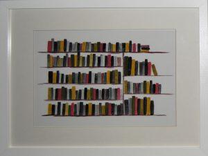 llibres pintats amb gouache