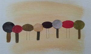 arboles pintados que juegan